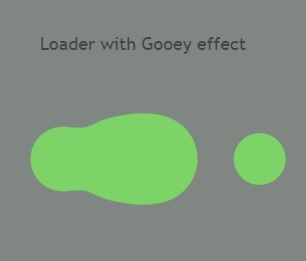 Loader with Gooey effect