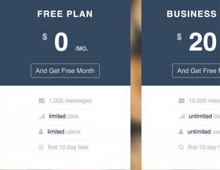 Startup UI Pricing Table - лендинг HTML5