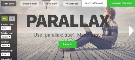 Parallax Scroll Snap - Эффект параллакс Scroll Snap со слайдером